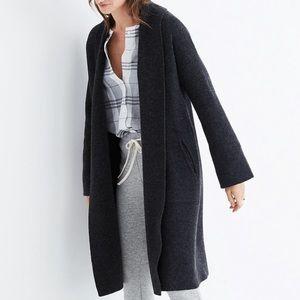 Madewell Rivington Sweater Coat in Charcoal Grey
